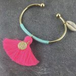 Gold/Turquoise-Neon Pink